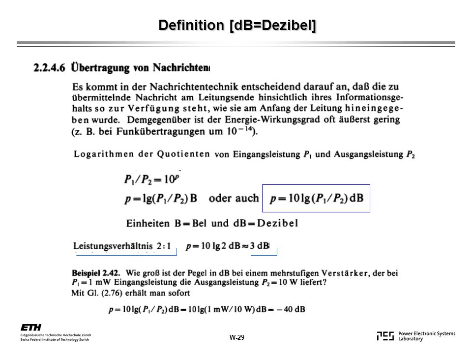 Definition [dB=Dezibel]